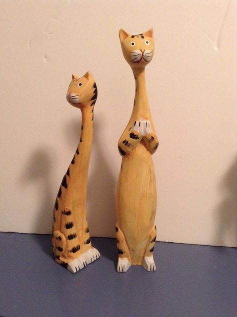 210 Cat Figurines Ideas Figurines Cats Vintage Cat Figurines