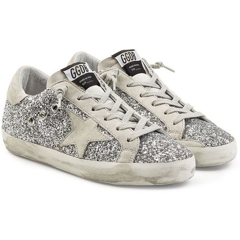 bdc2ccc9e89d Golden Goose Deluxe Brand Super Star Glitter Sneakers (€350) ❤ liked on  Polyvore featuring shoes