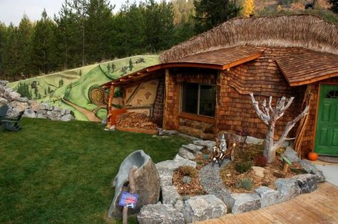 The Hobbit House In Montana Hobbit House House Wood Building