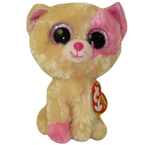 TY Beanie Boos - ANNABELLE the Pink   Cream Cat (Glitter Eyes) (Regular  Size - 6.5 inch) (Limited Ex 72549960dac