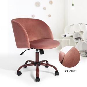 Chaise De Bureau Rose Moderne In 2020 Home Office Chairs Swivel