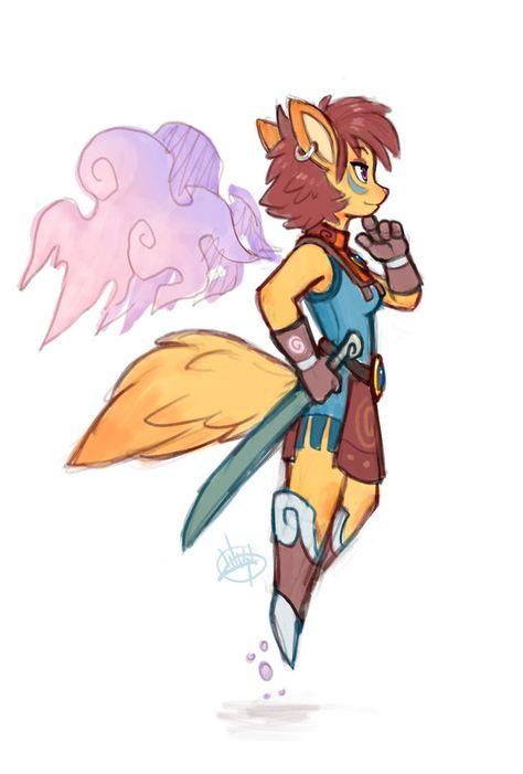 Foxy Warrior by LuigiL on DeviantArt