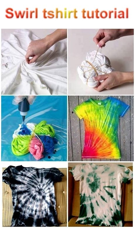 DIY Swirl T-Shirt. Click on image for more.