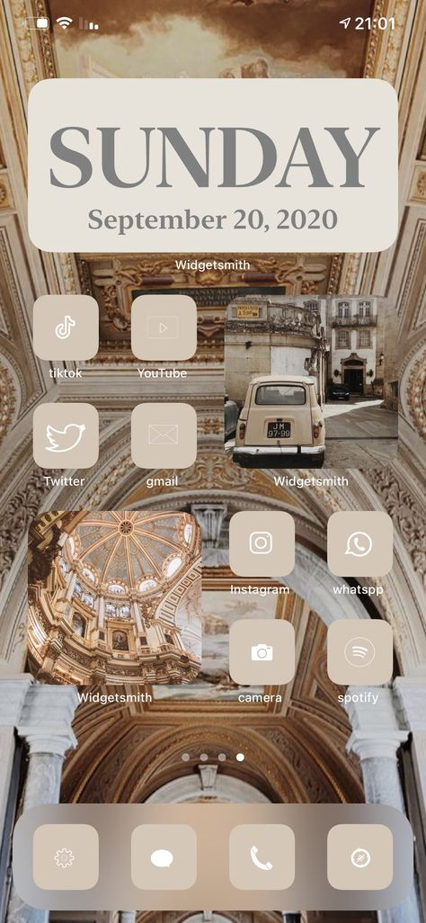 Iphone Home Screen Layout, Iphone App Layout, App Icon Design, Ios Design, Aesthetic Desktop Wallpaper, Gold Wallpaper, Iphone Design, Homescreen, Phone Themes