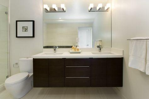 Modern bathroom pictures to decorate the interior - Shower - wandleuchten für badezimmer