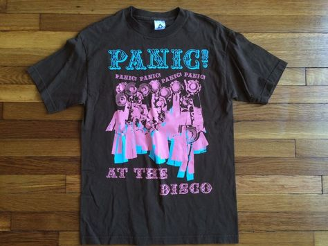 8e167621 Rare Panic! At the Disco Pink and Blue Ribbon Concert Band Shirt Medium in  Entertainment Memorabilia, Music Memorabilia, Rock & Pop | eBay