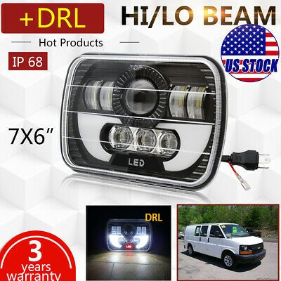 Sponsored Ebay Cree 5x7 7x6 Led Headlight Hi Lo Drl Bulb For