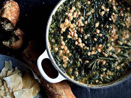 Spicy Beans with Wilted Greens recipe
