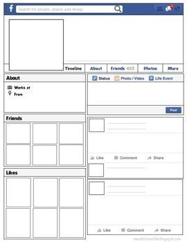facebook page template for students