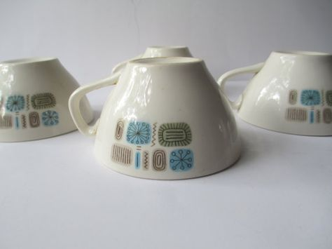 Retro Vintage Canonsburg Temporama Cups Set of by thechinagirl