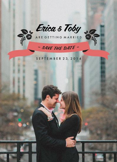 save the date cards - Floral Banner