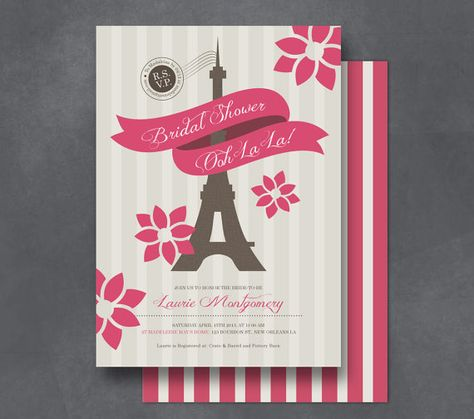 Paris Printable Bridal Shower Invitation  by FromLUCYwithLOVEwed