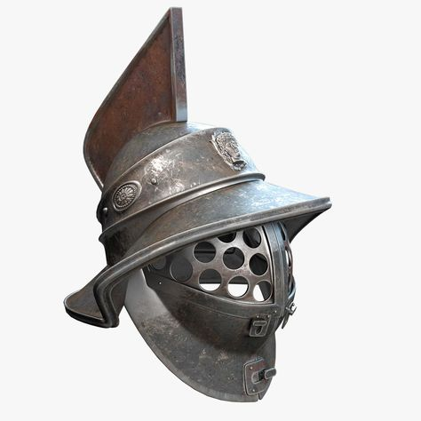 Gladiator Helmet 3D Model #AD ,#Gladiator#Helmet#Model