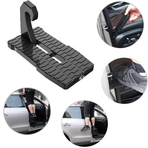Folding Mini Foot Pedal Car Door  Latch Hook Step Ladder For Jeep SUV Truck Roof