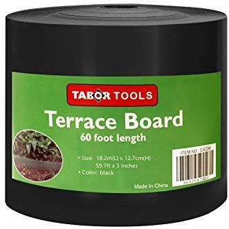 Amazon Com Tabor Tools Terrace Board Landscape Edging Coil 1 25 Inch Thick 5 Inch High Es24 60 Feet Black In 2020 Landscape Edging Fun Garden Projects Tabor