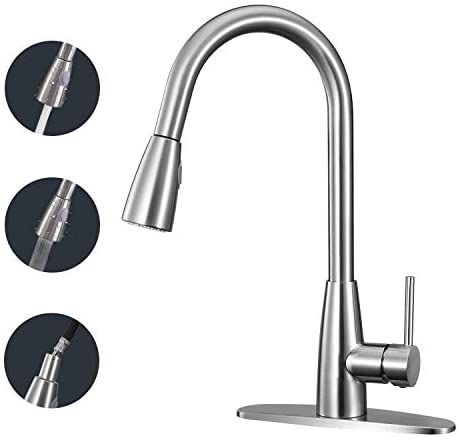 Anza Kitchen Faucet Single Handle High Arc Faucet With Pull Down Sprayer Modern Commercial Dual Function Kitchen Sink Faucet With 2 Spray Modes 360 Swivel Arc In 2020 Kitchen Sink Faucets