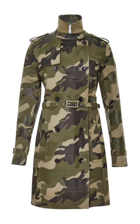 ~ Living a Beautiful Life ~ Waxed Cotton-Canvas Camouflage Trench Coat by Valentino Now Available on Moda Operandi