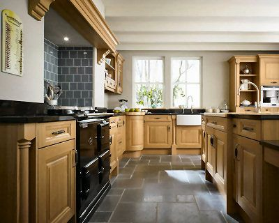 Kitchen Tiles Black Worktop cavell oak | dream home ideas | pinterest | oak kitchens, kind of