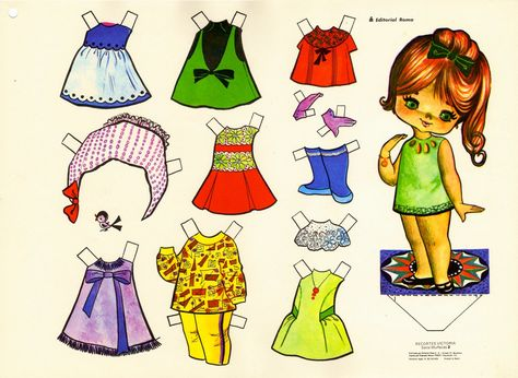 Paper doll girl - How cute is she! Description from pinterest.com. I searched for this on bing.com/images