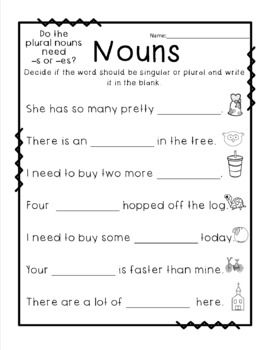 40++ Reading nouns worksheets Images