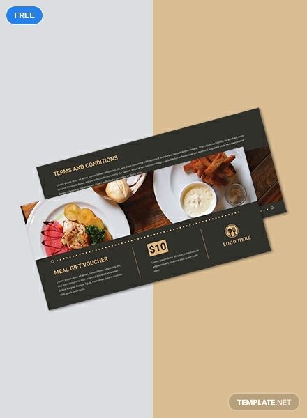 Free Meal Gift Voucher Food Vouchers Gift Voucher Design Gift