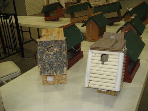 Bird houses and more bird houses for sale at the Demo Garden in DeRidder last Saturday.