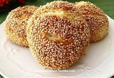 خبز السمسم بالجبن Food Bread Pita Bread