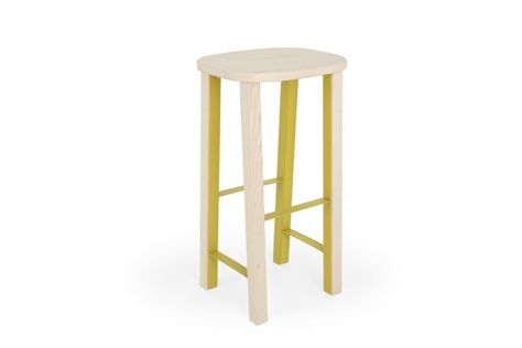 Marvelous A Flat Pack Wooden Stool With A Metal Structure Home Theyellowbook Wood Chair Design Ideas Theyellowbookinfo