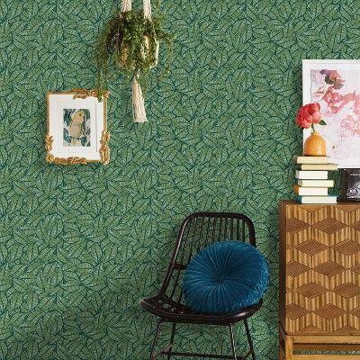 Layered Leaves Peel Stick Wallpaper Opalhouse In 2021 Peel And Stick Wallpaper Accent Walls In Living Room Opalhouse