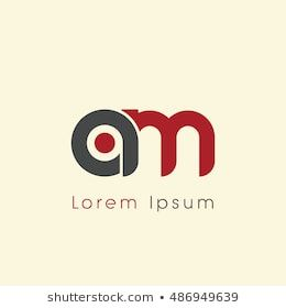 Am Initial Letter Linked Lowercase Logo A And M Vector Template