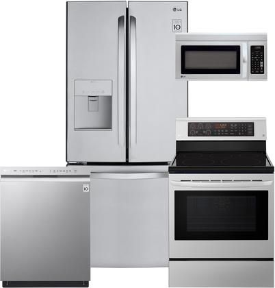 4 Piece Stainless Steel Kitchen Appliances Package With Lfds22520s