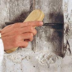Comment Reparer Les Fissures D Un Mur En Beton Mur Beton Comment Reparer Et Bricolage Facile A Faire