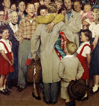Norman Rockwell's Christmas Homecoming appeared on the cover of The Saturday Evening Post published December 25, 1948.