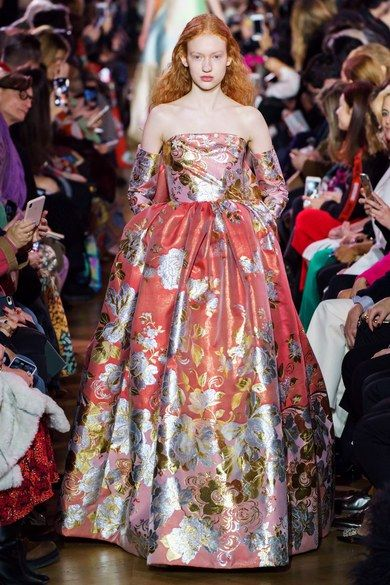 Schiaparelli Spring 2019 Couture collection, runway looks, beauty, models, and reviews.