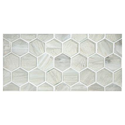 Complete Tile Collection Uze Gl Mosaic 2 Inch Hexagon Elation In Perla Finish Mi 038 G2 276 002 Tiles Hexagontiles Interiordesignideas