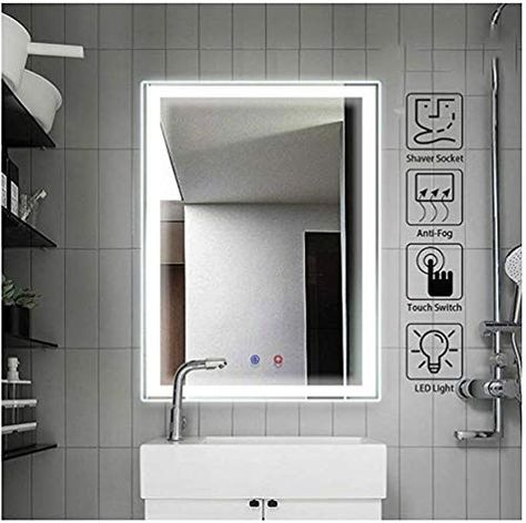 Gt S 600 X 800mm Anti Fog Lighting Led Bathroom Mirror Cabinet Stainle In 2020 With Images Led Mirror Bathroom Bathroom Mirror With Shelf Bathroom Mirror Cabinet