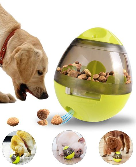 Dog Toy Treat Ball Interactive Food Dispenser Ball Toy For Small