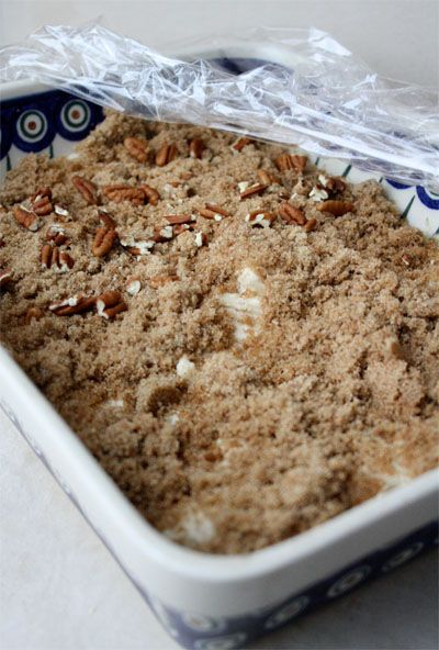 Overnight Coffee Cake  Good idea for Christmas morning
