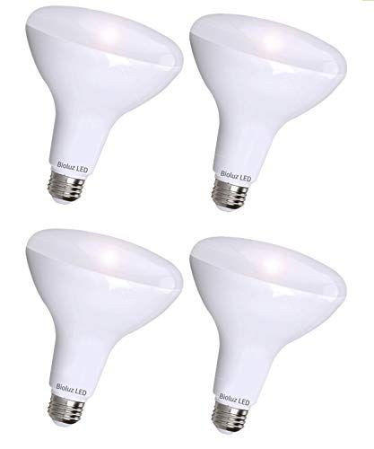4 Pack Brightest Br40 Led Bulbs By Bioluz Led Instant On Warm Led Energy Saving Bulbs 17w 120w Replacement 2700k Bulb 1400 Lumen Indoor Outdoor Smooth Dim