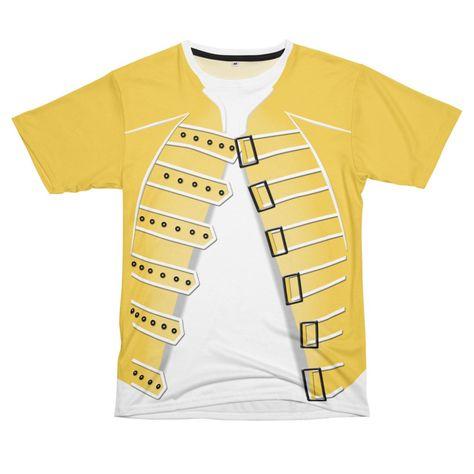 Freddie Mercury Cosplay Yellow Jacket Cool T Shirts Latest T Shirt T Shirts For Women