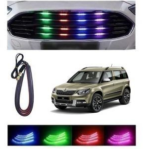Skoda Yeti Car Front Grill Multi Colour Light Jetta Car Car