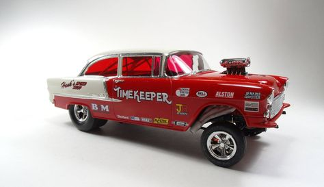 55 Chevy Gasser. Love the red tint windows.