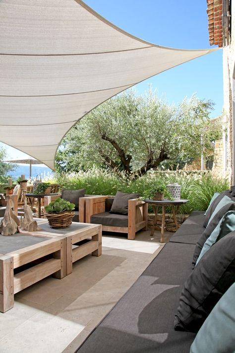 Voile au vent | Coin jardin, Meubles de jardin en bois et ...