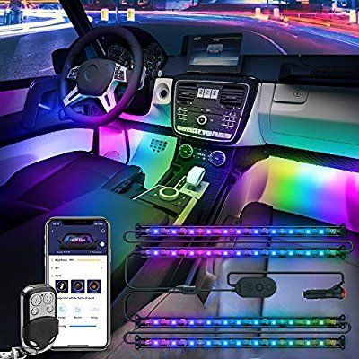 Amazon Com Govee Dreamcolor Car Interior Lights With App And Ir Remote Upgraded 2 In 1 Design 4pcs 72 Leds Interior Car Led Lights Led Light Kits Car Lights