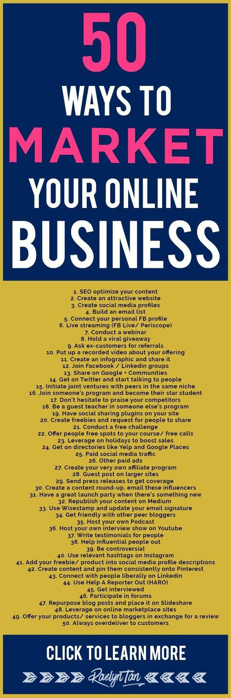 50 Outstanding Ways To Market Your Business Online