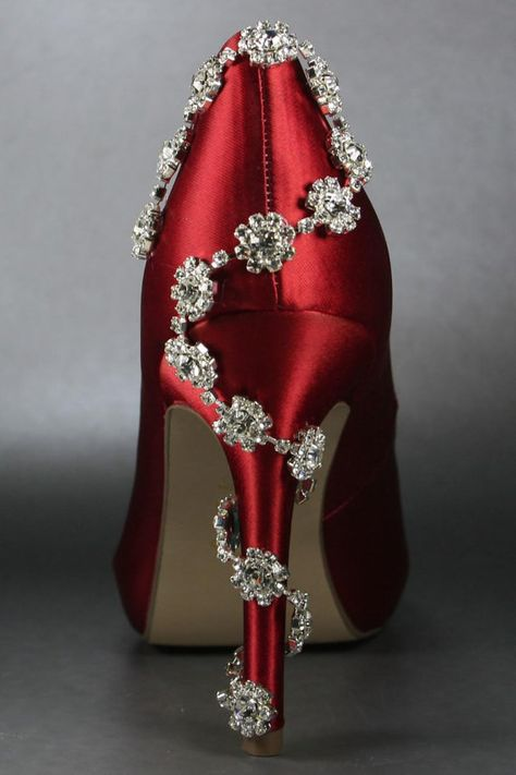 For Serious I Want Wedding Shoes Red Platform Peeptoes Silver