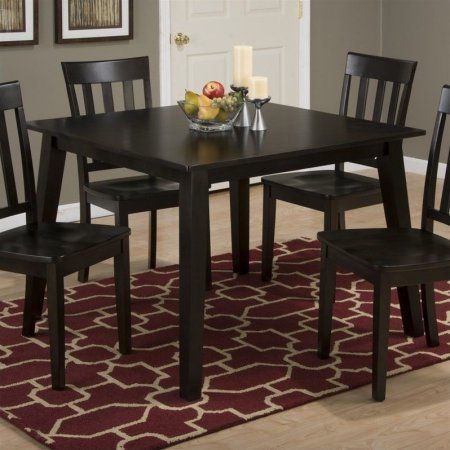 Jofran Simplicity Square Wood Dining Table In Espresso
