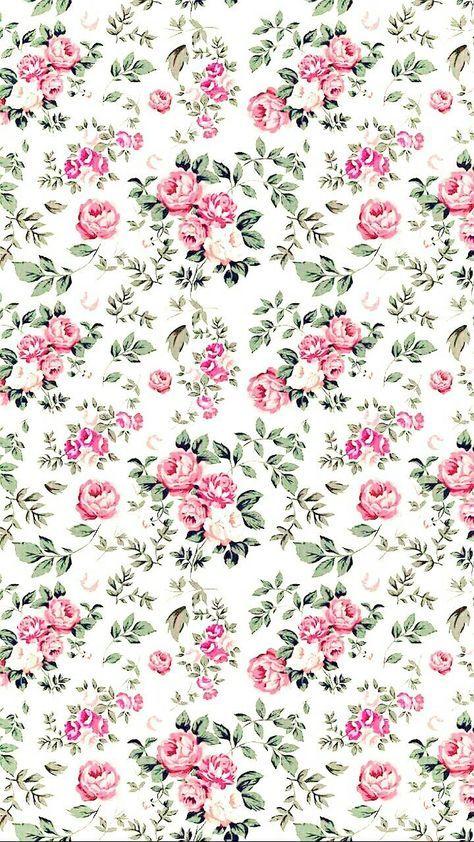 43 Trendy Wallpaper Iphone Funny Pink Vintage Flowers Wallpaper Flower Background Iphone Background Patterns