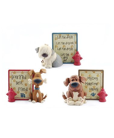 Look what I found on #zulily! Dog & Hydrant Sign Set #zulilyfinds