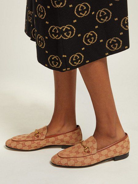Canvas loafers, Gucci jordaan loafer